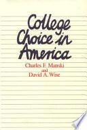 College Choice in America