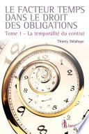 Le Facteur Temps Dans Le Droit Des Obligations