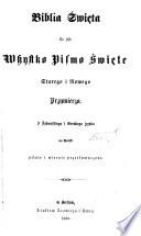 Biblia Święta, etc