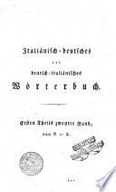 Dizionario italiano tedesco e tedesco italiano di Cristiano Giuseppe Jagemann     Tomo primo   secondo