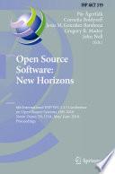 Open Source Software  New Horizons