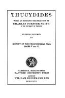 History Of The Peloponnesian War book
