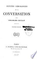 Petites Ignorance de la Conversation