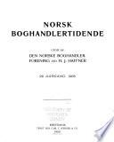 Norsk bokhandlertidende