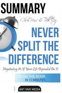 Ebook Summary Chris Voss & Tahl Raz's Never Split the Difference Epub Ant Hive Media Apps Read Mobile
