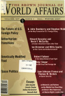 The Brown Journal of World Affairs