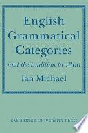 English Grammatical Categories