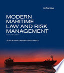 Modern Maritime Law and Risk Management