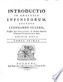 Introductio in analysin infinitoruin