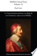 Le Gouvernement présent, ou éloge de son Eminence, satyre ou la Miliade