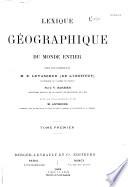 Lexique g  ographique du monde entier