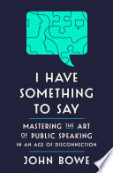 Book I Have Something to Say