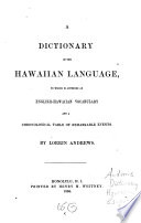 A Dictionary Of The Hawaiian Language book