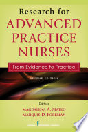 Research for Advanced Practice Nurses  Second Edition