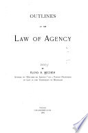 Book Outlines of the Law of Agency