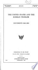 The United States and the Korean Problem Book PDF