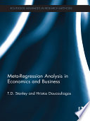 Meta regression Analysis in Economics and Business