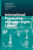International Prosecution of Human Rights Crimes National Prosecution Of Persons Accused Of Committing War
