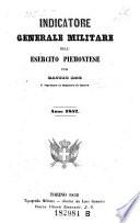Indicatore generale militare dell esercito piemontese