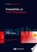 Probabilités et tests d'hypothèses