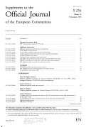 Supplement To The Official Journal Of The European Communities