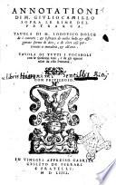 Il Petrarca nouissimamente reuisto  e corretto da messer Lodouico Dolce  Con alcuni dottiss  auertimenti di m  Giulio Camillo  et indici del Dolce de  concetti  e delle parole  che nel poeta si trouano    in ultimo de gli epitheti    un utile raccoglimento delle desinenze delle rime di tutto il ca nzoniere di esso poeta