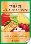 Tabla de calorías y grasas