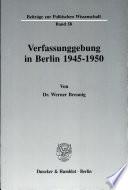 Verfassunggebung in Berlin