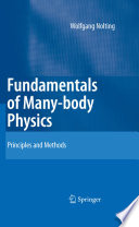 Fundamentals of Many body Physics