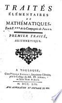 illustration Traités élémentaires de mathématiques