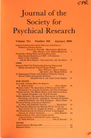 Journal of the Society for Psychical Research