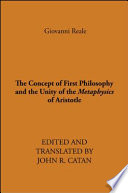 The Concept of First Philosophy and the Unity of the Metaphysics of Aristotle