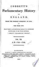 Cobbett's Parliamentary History Of England : ...