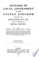 Outlines of Local Government of the United Kingdom