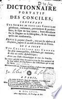 Dictionnaire portatif des conciles par Alletz