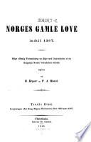 Lovgivningen efter Kong Magnus Haakonssöns Död 1280 indtil 1387
