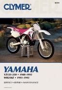 Clymer Yamaha YZ125 250  WR250Z  1988 1993