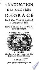 Traduction des oeuvres de lui par (Jacques) Tarteron