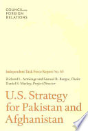 US Strategy for Pakistan and Afghanistan