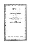 Opere di Francesco Guicciardini  Storie fiorentine  Dialogo del reggimento di Firenze  Ricordi e altri scritti