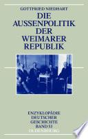 Die Au  enpolitik der Weimarer Republik