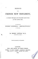 Memoir of a French New Testament  in which the Mass and Purgatory are Found in the Sacred Text