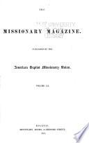 Baptist Missionary Magazine The American Baptist Missionary Union