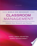 Middle and Secondary Classroom Management
