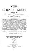 Archiv für Ohren-, Nasen- und Kehlkopfeilkunde