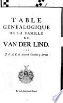 Table généalogique de la famille de Heyns, alias Smets