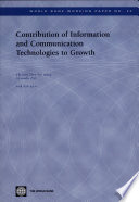 Contribution Of Information And Communication Technologies To Growth book