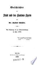 Vom Ursprunge bis zur Staatsumwälzung im Jahr 1798