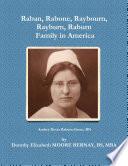 Raban, Rabone, Raybourn, Rayburn, Raburn, Family in America