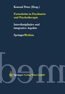 Fortschritte in Psychiatrie und Psychotherapie